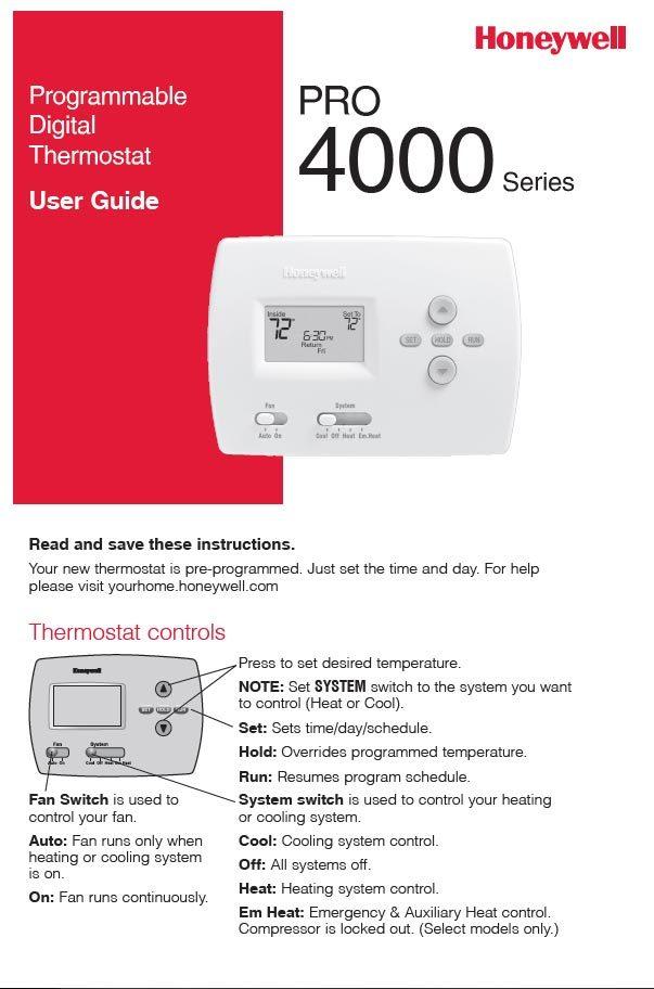 Honeywell - Pro 4000 Series Manual - Spokane, WA