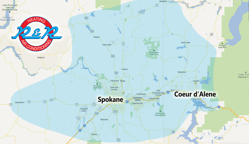 R&R Heating and Air Conditioning - Spokane & Coeur d'Alene Service Area