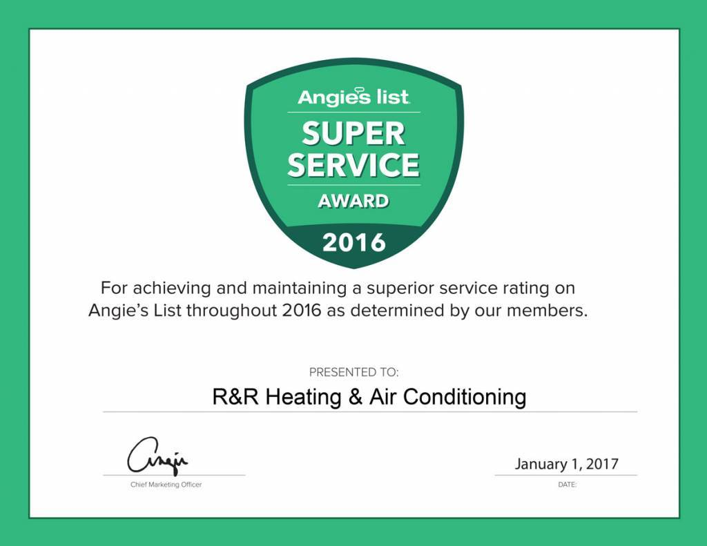 Angie's List - Super Service Award 2016