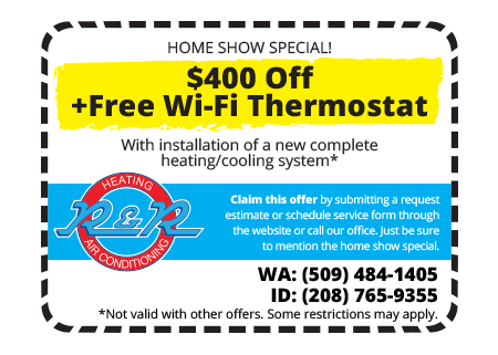 Home Show Special - $400 Off New Heating/Cooling System