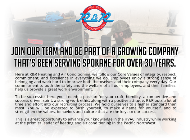 R&R Heating and Cooling Now Hiring