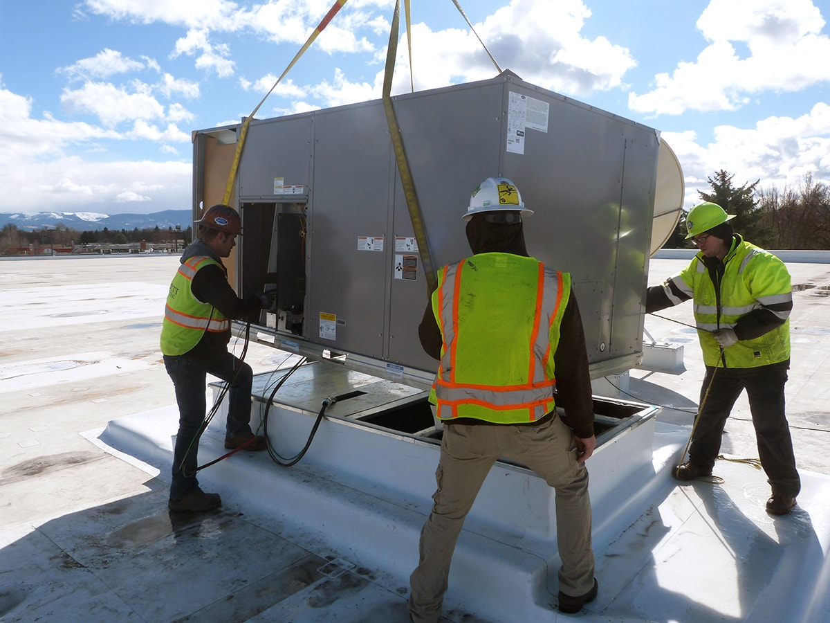 Commercial Rooftop Unit Installation - R&R Heating and Air Conditioning