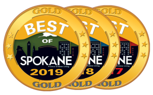 Voted Spokane's Best Heating & Air Company in 2017, 2018, and 2019