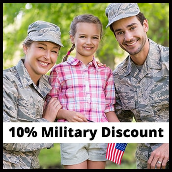 Military Service Discount - 10% off Service & Repairs